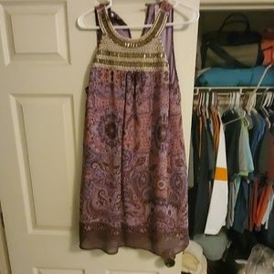 Xhilaration Dresses - Xhilaration Purple paisley sleeveless dress